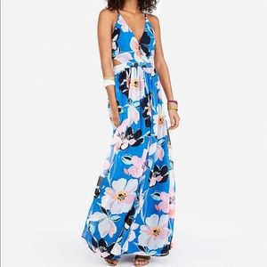 Express Strappy lace-up cit-out maxi dress